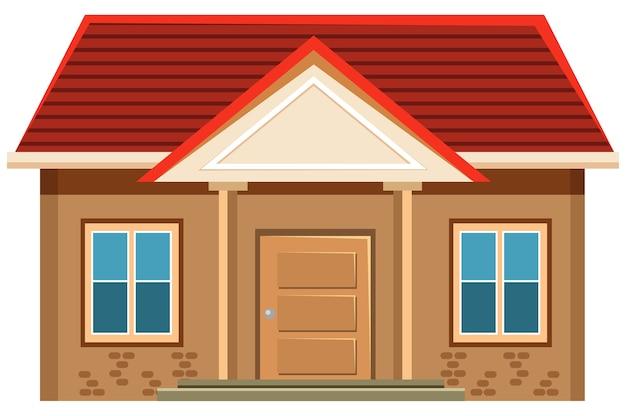 Esterno semplice della casa su priorità bassa bianca