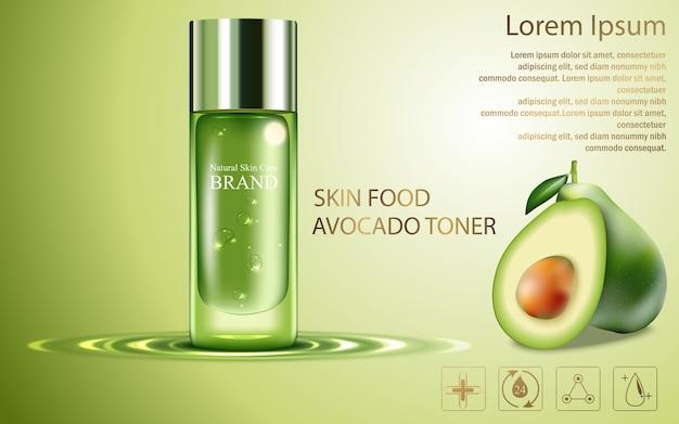 Estrarre la crema per la cura della pelle di avocado