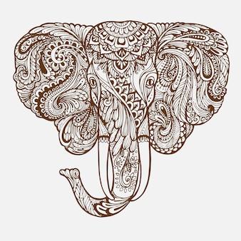 Estratto altamente dettagliato ornamentale disegnato a mano.