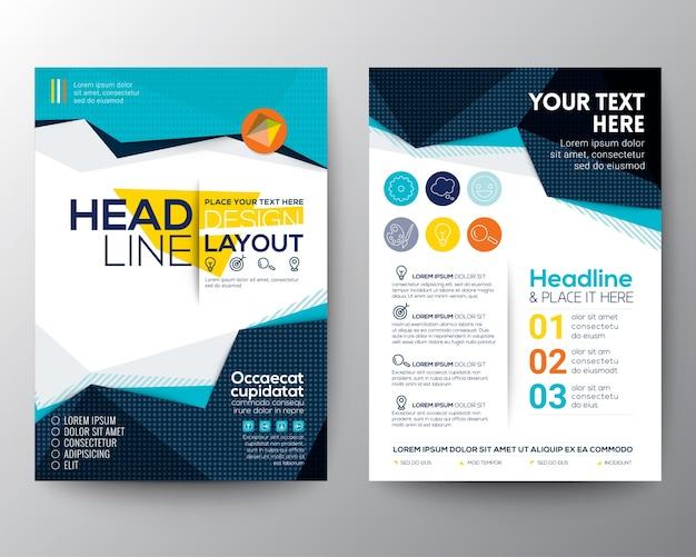 Estratto bassa del poligono forma triangolare sfondo per il modello di poster brochure flyer layout