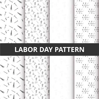 Estratto bella serie di labor day sfondo pattern