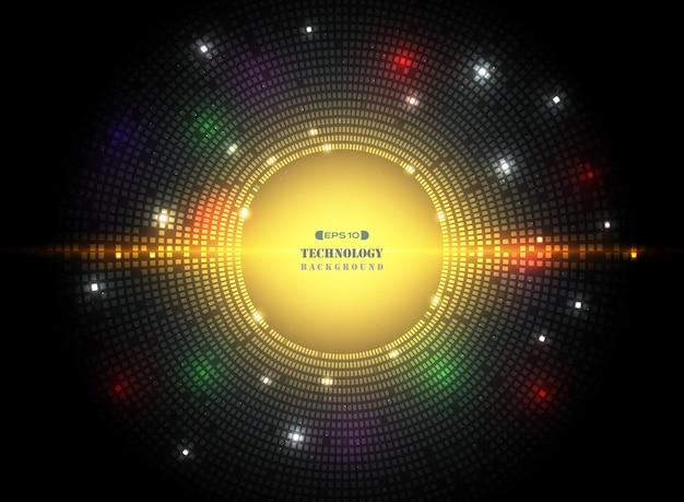 Estratto del fondo del cerchio scuro