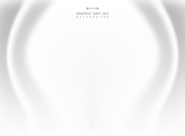 Estratto del gradiente bianco grigio seta sfondo.