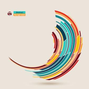 Estratto dell'opuscolo minimalista colorato. modello annuale libretto flyer.