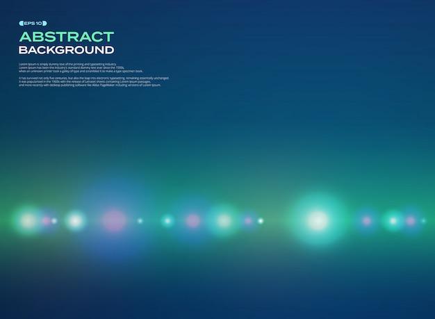 Estratto dello spettro incandescente stipe linea modello su sfondo verde blu.