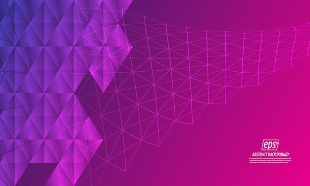 Estratto di forma moderna con sfondo viola linea