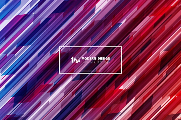 Estratto di tecnologia variopinta nella progettazione magenta del fondo di tono del modello quadrato.