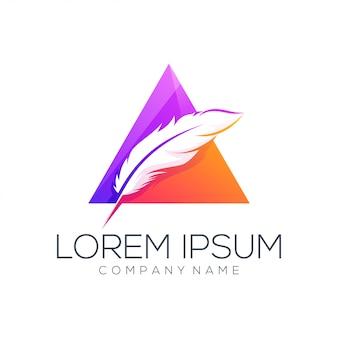 Estratto di vettore di progettazione di logo della piuma