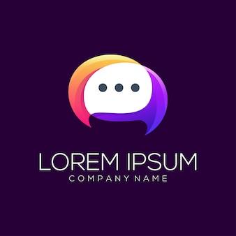 Estratto di vettore di progettazione di logo di chiacchierata