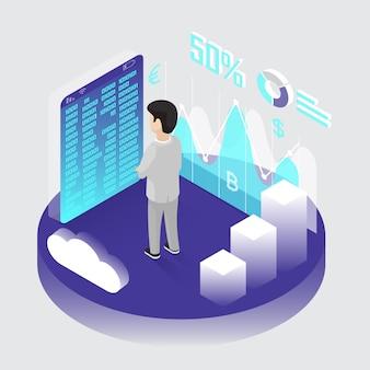 Estrazione di bitcoin isometrica