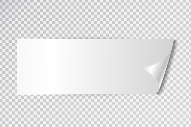 Etichetta adesiva bianca realistica in vendita su sfondo trasparente. banner bianco per promozione e pubblicità.