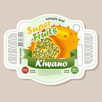 Etichetta adesiva kiwano