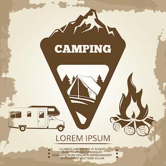 Etichetta da campeggio