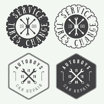 Etichetta del meccanico, emblema