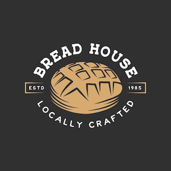 Etichetta del negozio di panetteria vintage, badge, emblema, logo