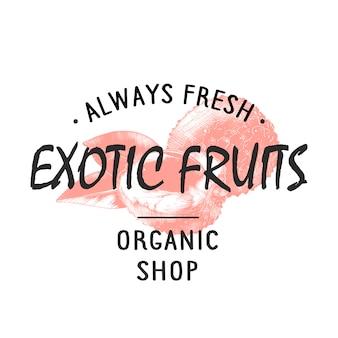 Etichetta del negozio di stile vintage, distintivo, emblema, logo