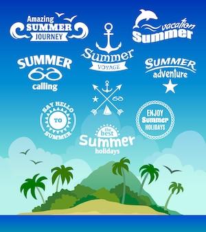 Etichetta dell'elemento estivo
