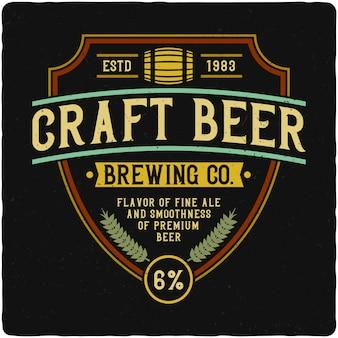 Etichetta della birra artigianale