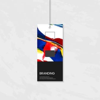 Etichetta di abbigliamento con design artistico