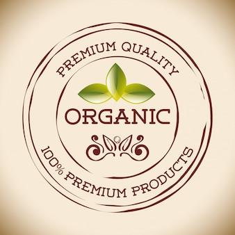 Etichetta di alimenti naturali biologici