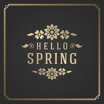 Etichetta di citazione tipografia primavera per biglietto di auguri.