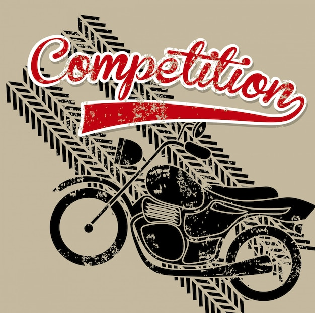 Etichetta di concorrenza sopra illustrazione vettoriale sfondo marrone