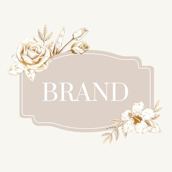 Etichetta di marca romantica