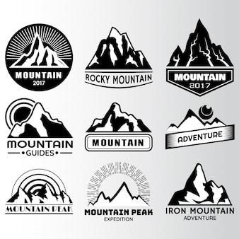 Etichetta di montagna design