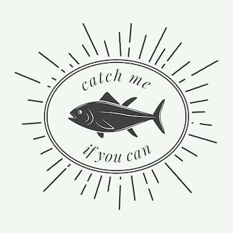 Etichetta di pesca
