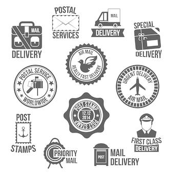 Etichetta di servizio postale