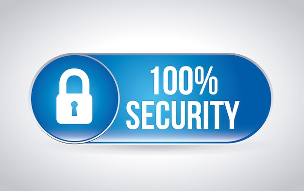Etichetta di sicurezza sopra illustrazione vettoriale sfondo grigio