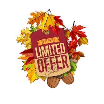 Etichetta di vendita autunno