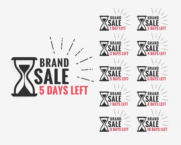 Etichetta di vendita che mostra il numero di giorni rimasti