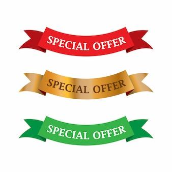 Etichetta di vendita e offerta speciale, cartellini dei prezzi, etichetta di vendita