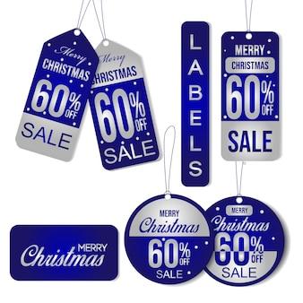 Etichetta di vendita natalizia