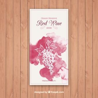 Etichetta di vino rosso grand reserve