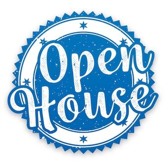 Etichetta immobiliare open house