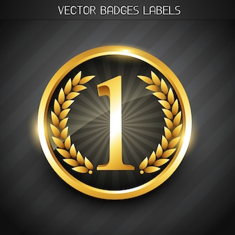 Etichetta numero uno d'oro