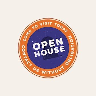 Etichetta open house contattaci