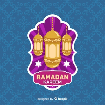 Etichetta piatta ramadan