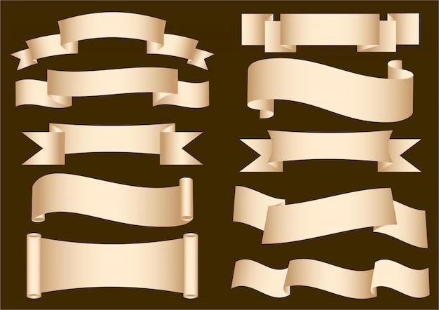 Etichetta ribbon scroll
