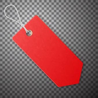 Etichetta rossa. promozione della vendita, offerta a basso prezzo.