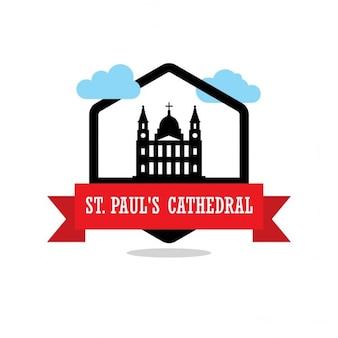 Etichetta st pauls cattedrale del nastro