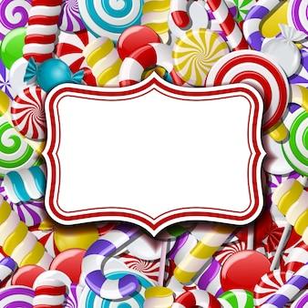 Etichetta telaio su dolce