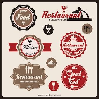 Etichette alimentari vettore