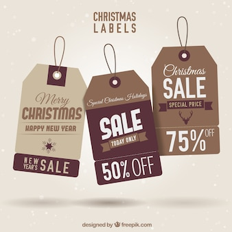 Etichette brown christmas