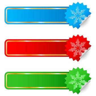 Etichette colorate che vendono il nuovo anno