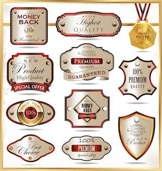 Etichette d'oro di lusso