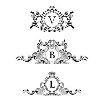 Etichette decorative vintage