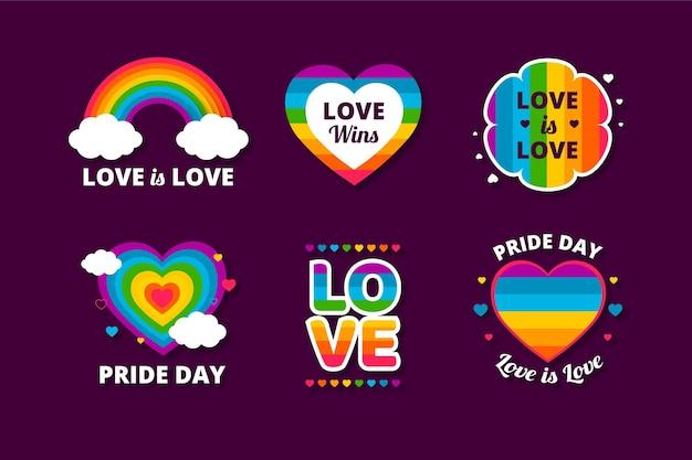 Etichette del giorno dell'orgoglio